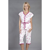 Heart Print Crop Pyjamas