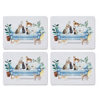 Curious Cats 4 Pack Placemats