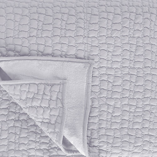Sleepdown Luxurious Cosy Fleece Throw Silver