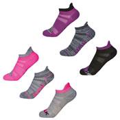 Girls Sport Trainer Liner Socks Run/Walk Dye