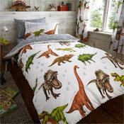 Childrens Dinosaur Rotary Duvet Set