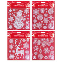 Glitter Christmas Window Stickers