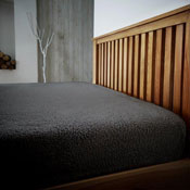 Super Soft Teddy Feel Fitted Bed Sheet Charcoal