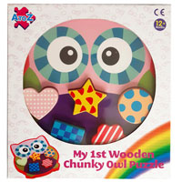 Wood Owl Chunky Puzzle