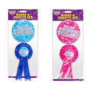 Birthday Party Badge & Rosette Set