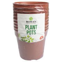 Plastic Plant Pots 10 Pack