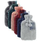 Luxury Faux Fur Pom Pom Hot Water Bottle