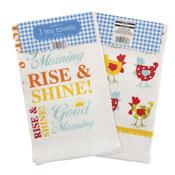 Wakey Wakey Tea Towels 3 Pack