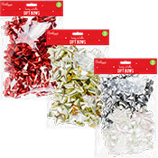 Christmas Metallic Gift Bows 16 Pack