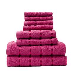 8 Piece Towel Bale Fuchsia Egyptian Cotton