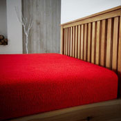 Super Soft Teddy Feel Fitted Bed Sheet Red