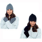 Ladies Hat & Glove Set Diamante