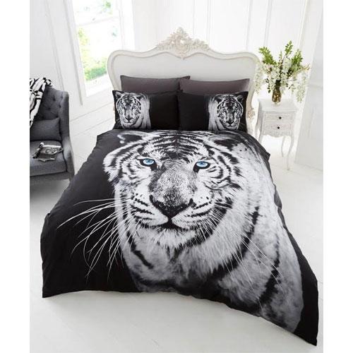 3D White Tiger Duvet Set