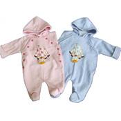 Baby Giraffe Fleece Romper Suit