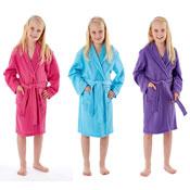 Girls Plain Dressing Gown Robes
