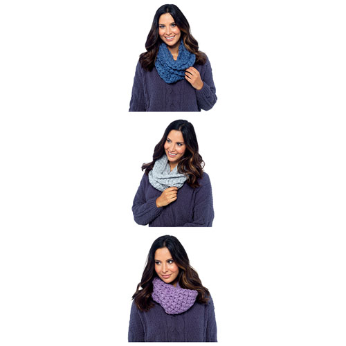 Ladies Soft Fleece Snood Scarf