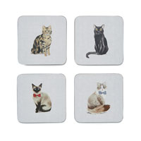 Curious Cats Coasters
