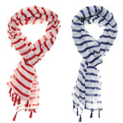 Fashion Scarf Charlie Stripe Print