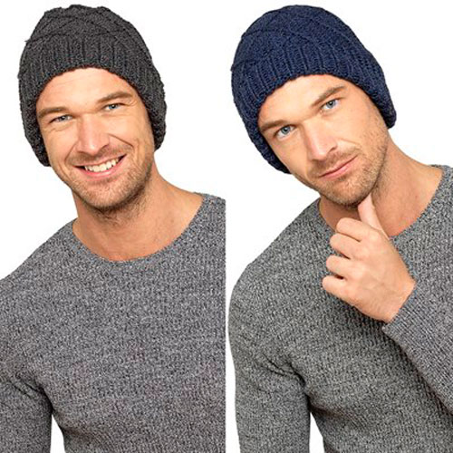 Mens Cable Knit Beanie Hat