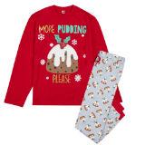 Mens Christmas Pudding Pyjama Set