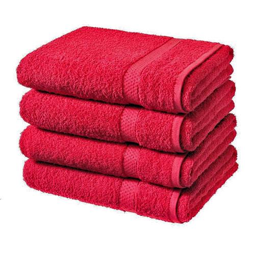 Luxury Cotton Bath Sheet Red