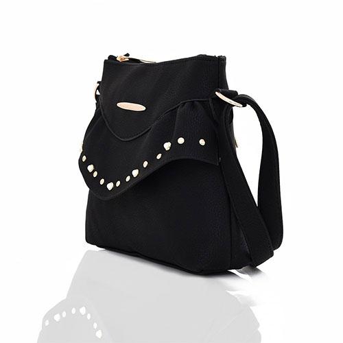 Sansa Studded Crossbody Bag Black
