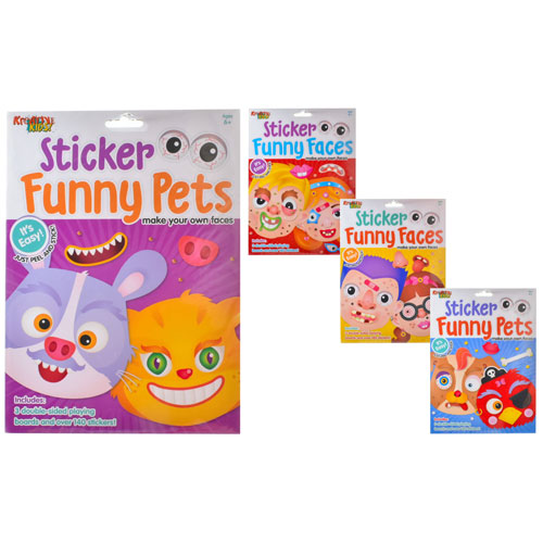 Funny Faces & Pets Stickers