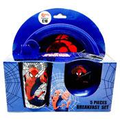 Ultimate Spiderman 5 Piece Breakfast Set