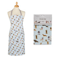 Curious Dogs Cotton Apron