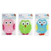 Kids Owl Bath Time Wash Mitts