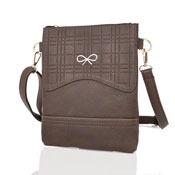Ladies Atara Face Bow Crossbody Bag Dark Khaki