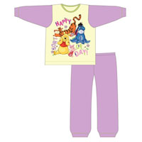 Girls Toddler Official Winnie The Poo Happy Day Pyjamas