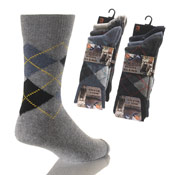 Mens Non Elastic Argyle Socks Thermal