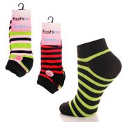 Fashion Trainer Sport Socks Multi Colour Stripe