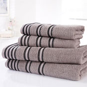 Sirocco Luxury Cotton Bath Sheets Charcoal