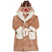 Toddlers Novelty Plush Reindeer Robe