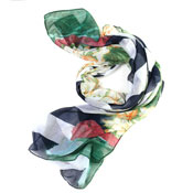 Ladies Louise Stripe With Flower Summer Shawl Scarf