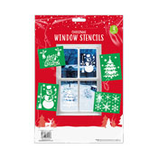 Christmas Window Stencils 4 Pack