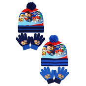 Official Paw Patrol Bobble Hat & Gloves Set