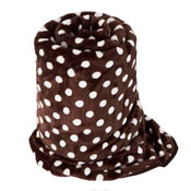 Faux Fur Mink Spotty Blanket Brown