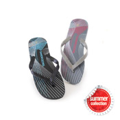 Mens Flip Flops Multi Stripes