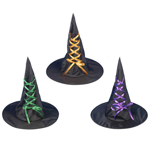 Witches Hat With Ribbon Adults