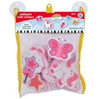 Unicorn Bath Stickers In Hanging Bag