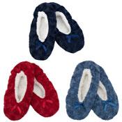Ladies Fleece Lining Slipper Socks With Bow