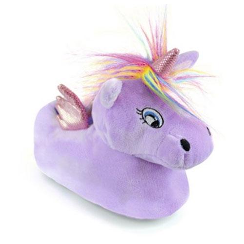 Girls Unicorn Slipper Lilac