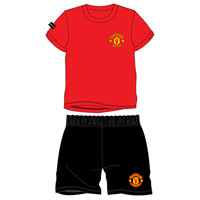 Boys Official Manchester United Shortie Pyjamas