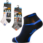 Mens Coloured Heel Pro Hike Trainer Socks