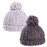 Ladies Popcorn Yarn Bobble Hat
