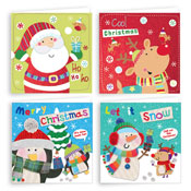 Traditional Christmas Cards Character