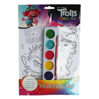 Official Trolls Painting Set